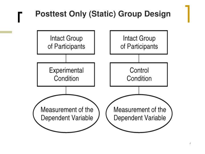 Posttest Only (Static) Group Design