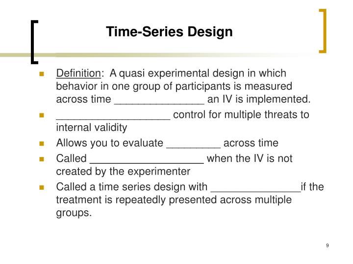 Time-Series Design