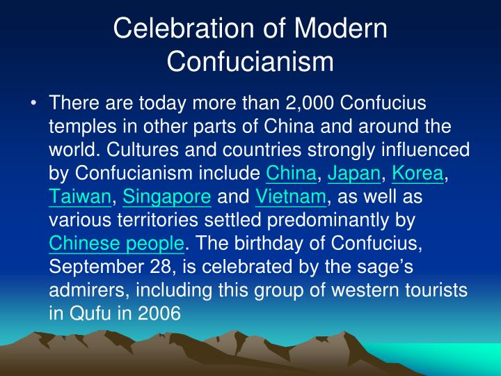 Celebration of Modern Confucianism