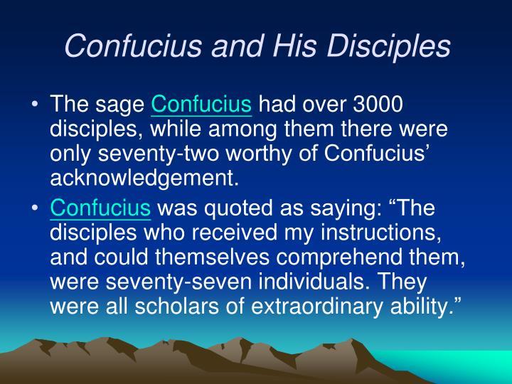 Confucius and His Disciples