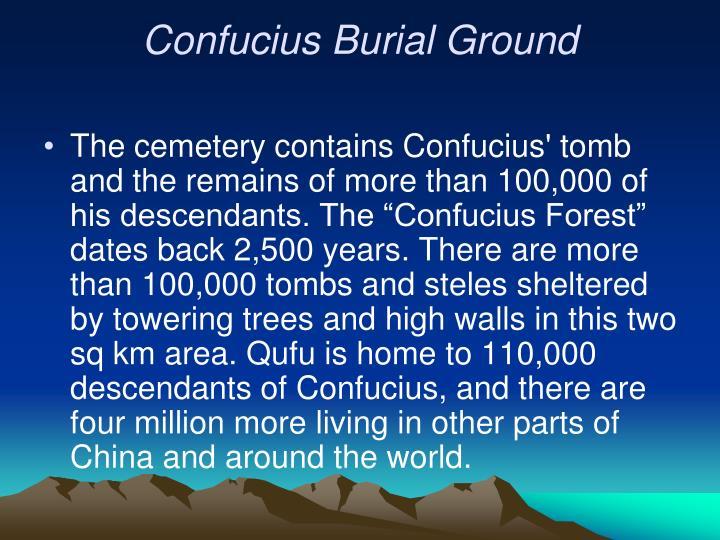 Confucius Burial Ground