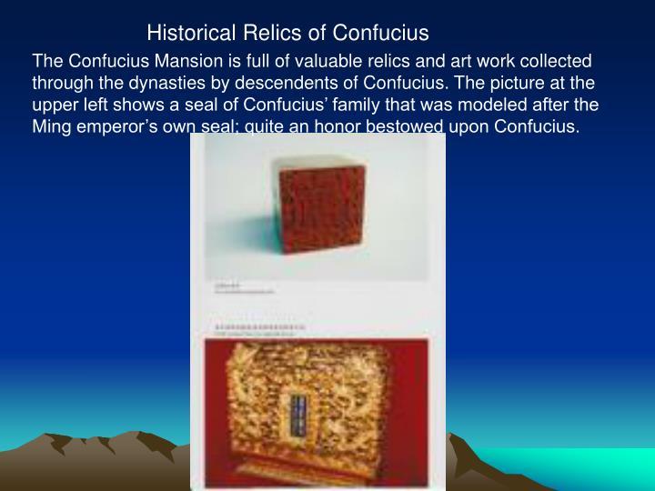 Historical Relics of Confucius