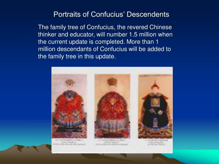 Portraits of Confucius' Descendents