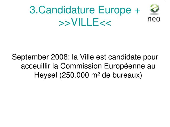 3.Candidature Europe +