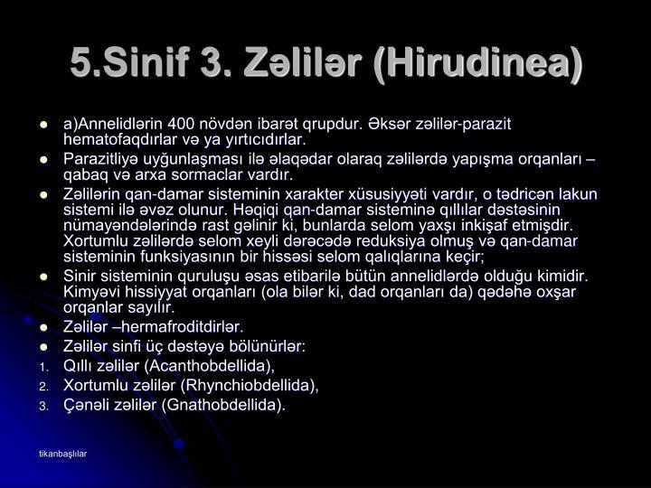 5.Sinif 3. Zəlilər (Hirudinea)