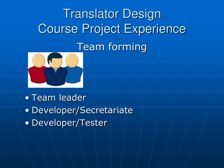 Translator Design