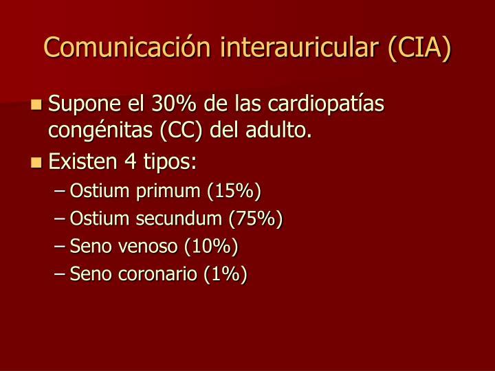 Comunicación interauricular (CIA)