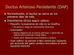 ductus arterioso persistente dap