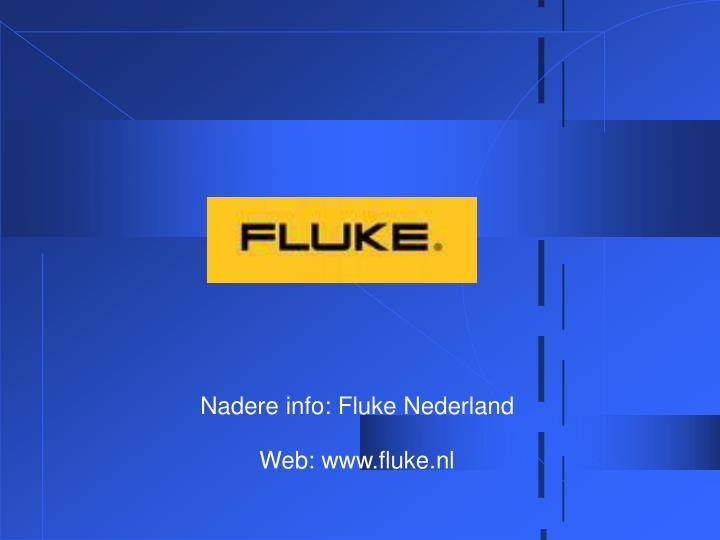 Nadere info: Fluke Nederland