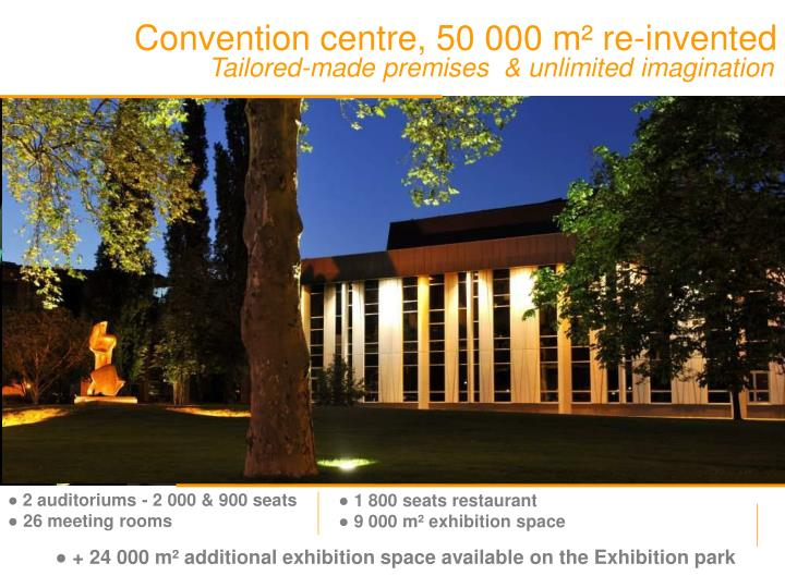 Convention centre, 50 000 m² re-invented
