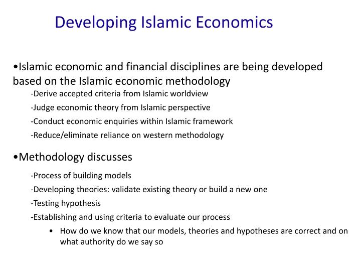 Developing Islamic Economics