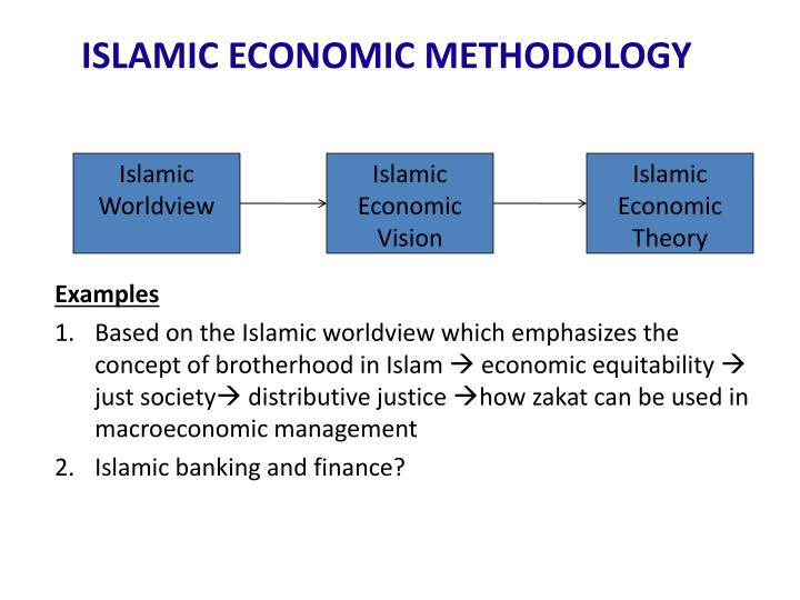 ISLAMIC ECONOMIC METHODOLOGY