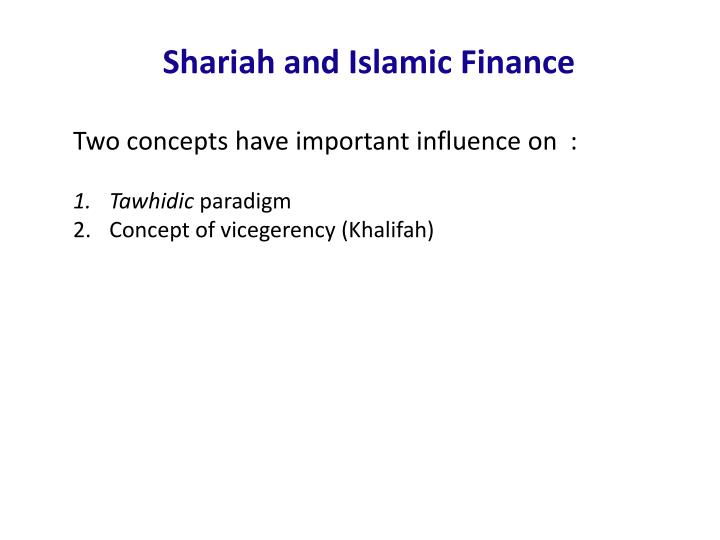 Shariah and Islamic Finance