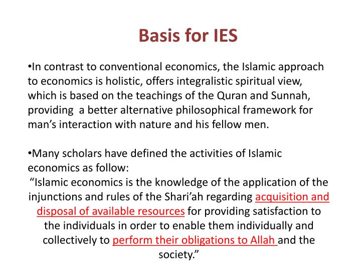 Basis for IES