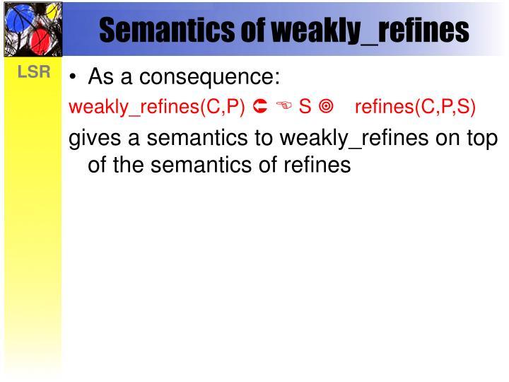 Semantics of weakly_refines