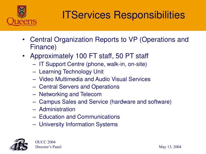 ITServices Responsibilities
