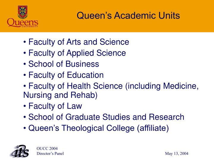 Queen's Academic Units