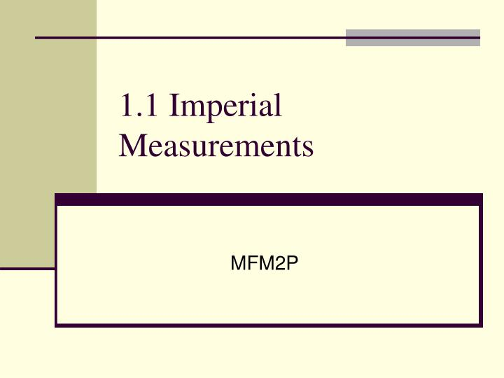 1 1 imperial measurements