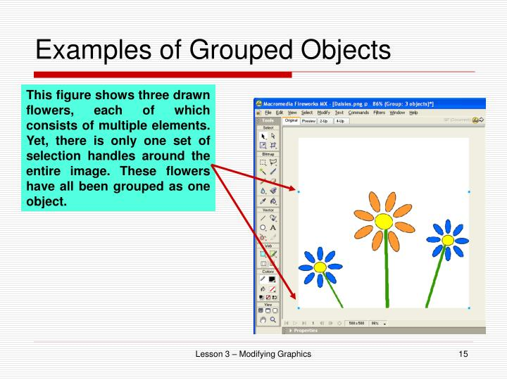 Examples of Grouped Objects