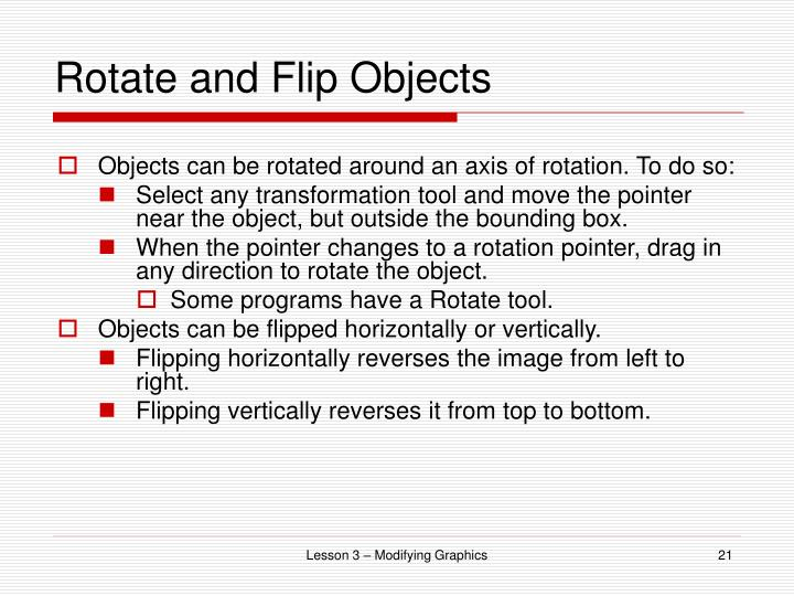 Rotate and Flip Objects