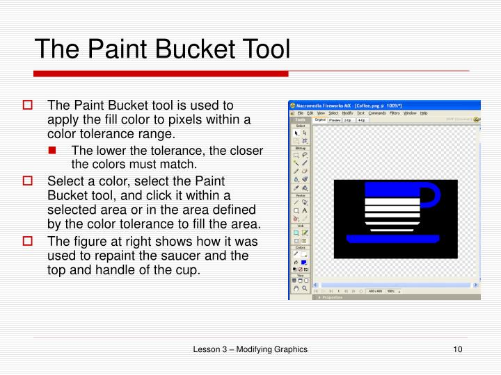 The Paint Bucket Tool