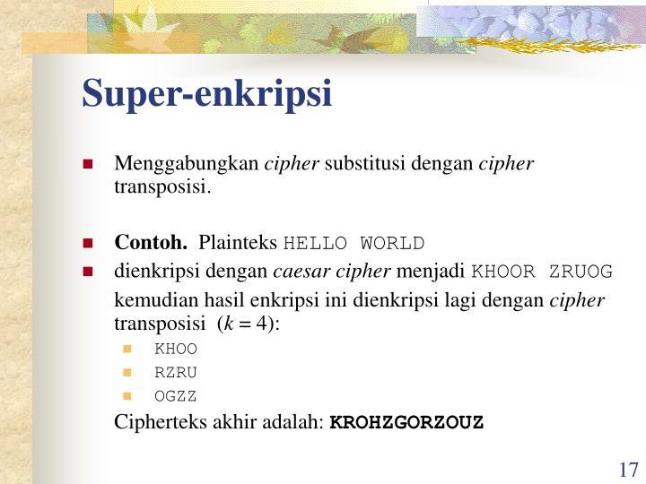 Super-enkripsi