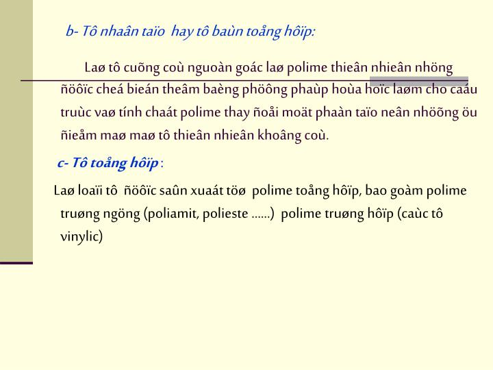 b- T nhan tao  hay t ban tong hp: