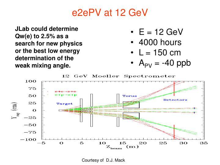 e2ePV at 12 GeV