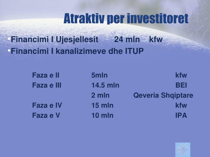 Atraktiv per investitoret