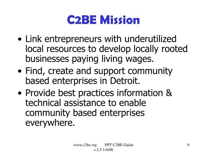 C2BE Mission