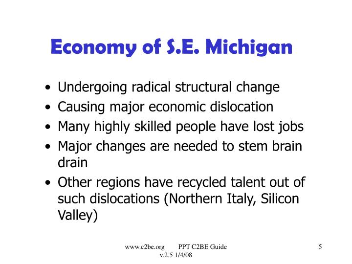 Economy of S.E. Michigan