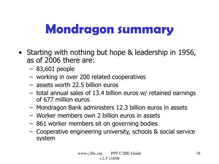 Mondragon summary