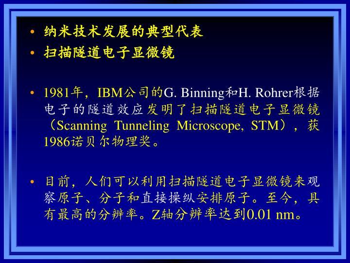 纳米技术发展的典型代表