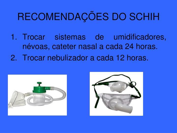 RECOMENDAÇÕES DO SCHIH