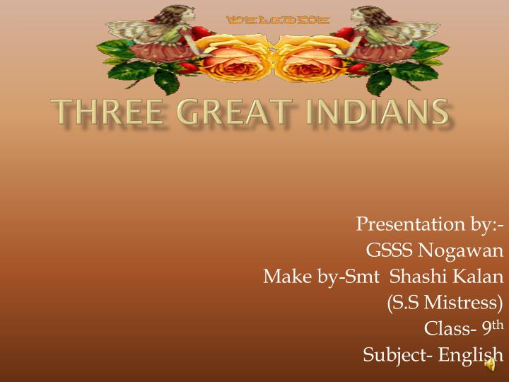 Three Great Indians