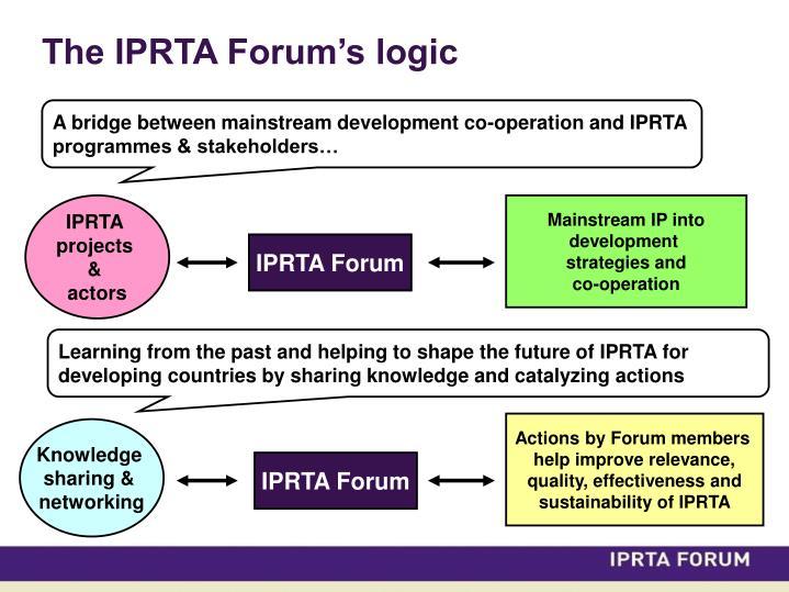 The IPRTA Forum's logic