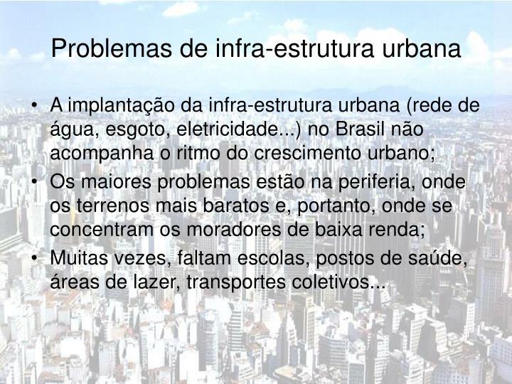 Problemas de infra-estrutura urbana