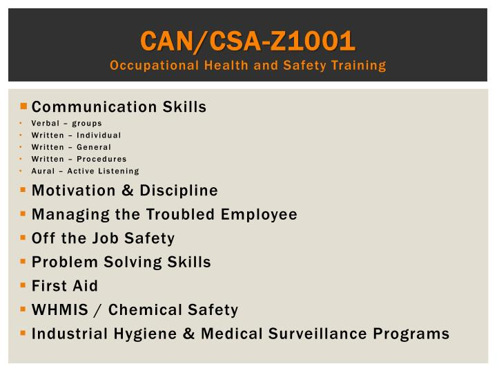 CAN/CSA-Z1001