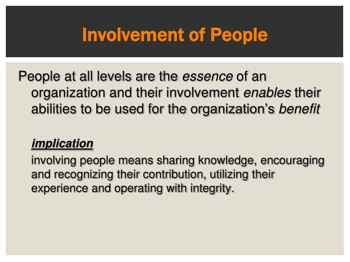 Involvement of People