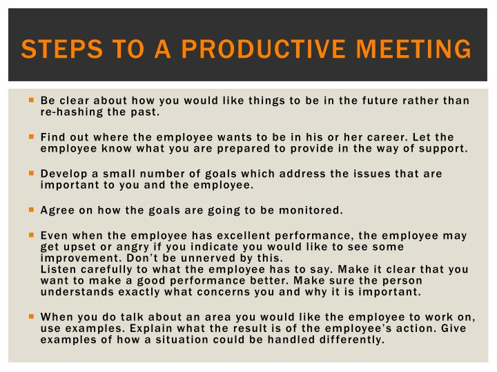 steps to a productive meeting