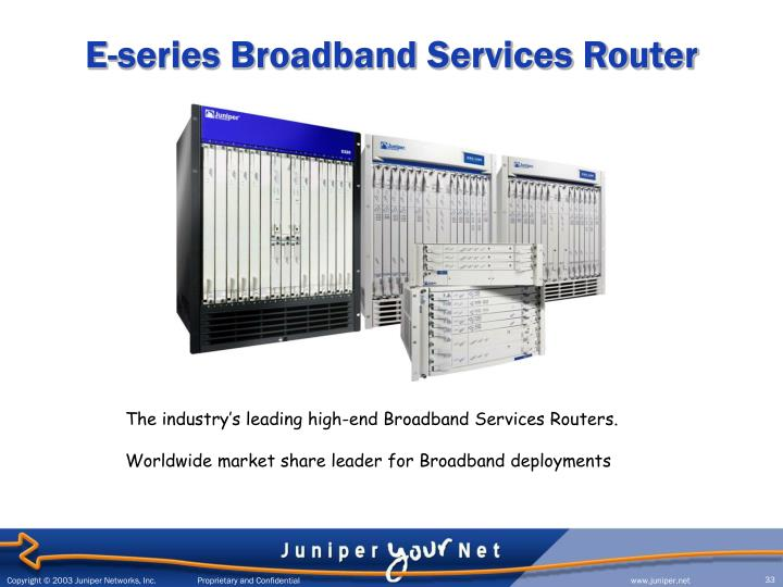 E-series Broadband Services Router