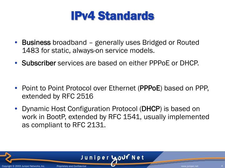 IPv4 Standards