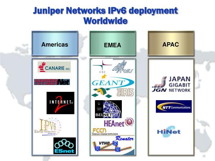 Juniper Networks IPv6 deployment