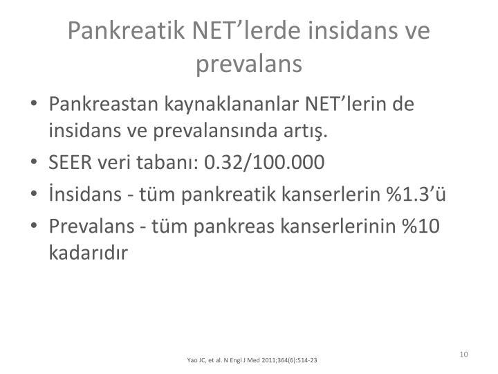 Pankreatik NETlerde insidans ve prevalans