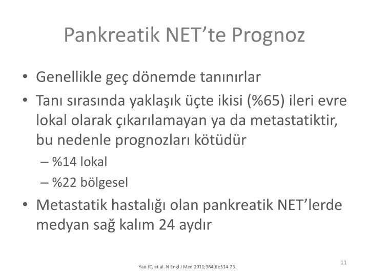 Pankreatik NETte Prognoz