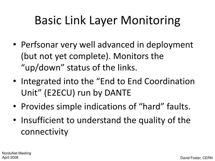 Basic Link Layer Monitoring