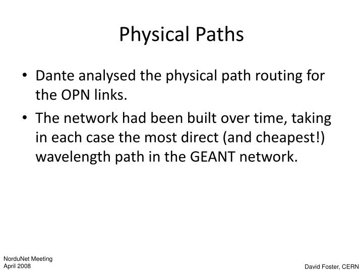 Physical Paths