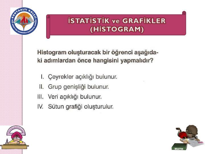 İSTATİSTİK ve GRAFİKLER