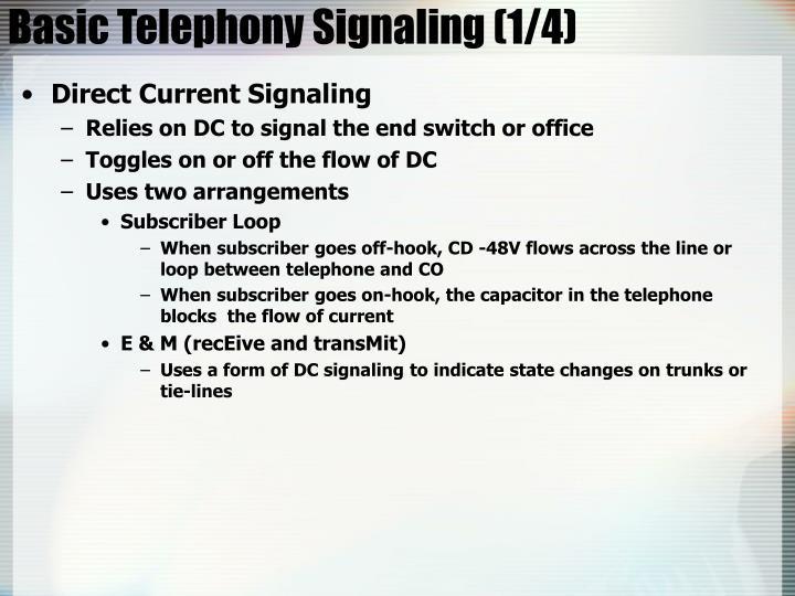 Basic Telephony Signaling (1/4)
