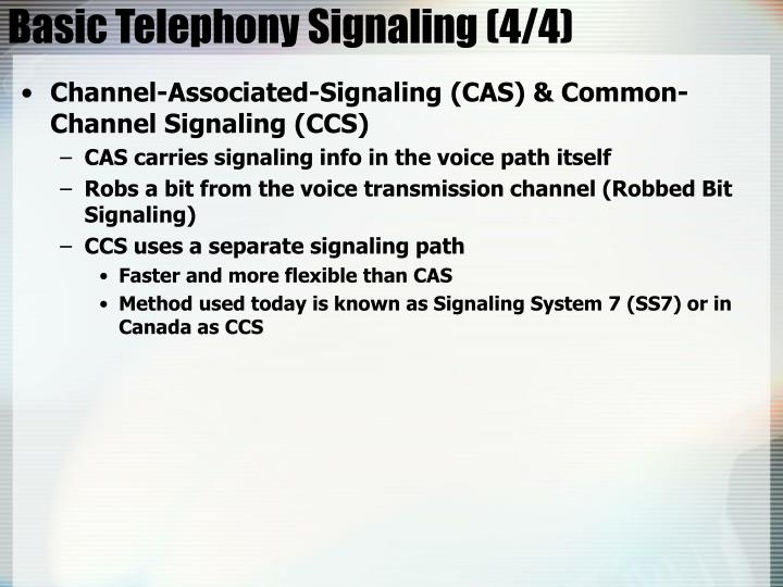 Basic Telephony Signaling (4/4)